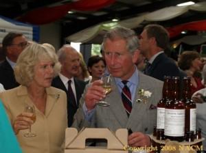 Camilla and Prince Charles tasting Severn Sider
