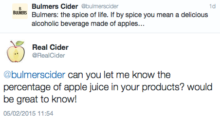 real cider bulmers