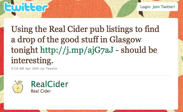 Twitter _ Real Cider_ Using the Real Cider pub l ...