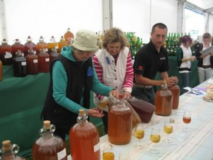 Judges tasting the high standard of cider and perry entries at the Bath & West 2010