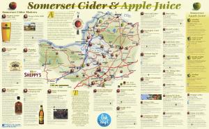 New Somerset cider map - Real CiderReal Cider